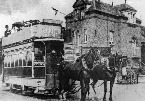 British Paintings Horse Tram About 1900
