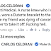 Carlos Celdran asks Makati Med nurse to take off Duterte baller, draws flak