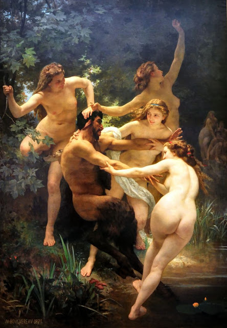 """Nymphs & Satyr Pan""  William Adolphe Bouguereau"