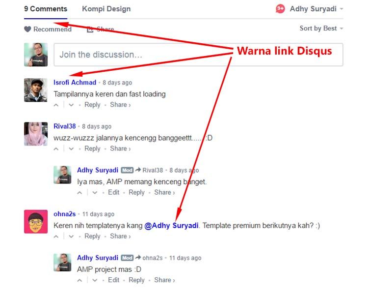 Link Disqus Pada Blog AMP