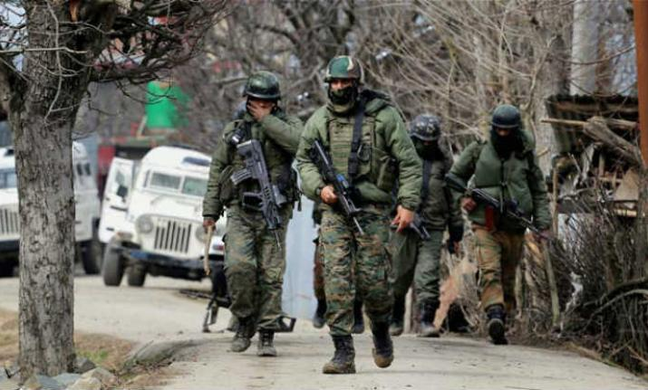 Indian Security Forces operation in disputed Kashmir territory
