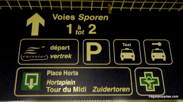 Embarque no trem Eurostar em Bruxelas