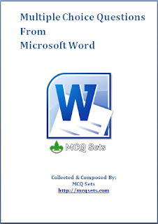 MS Word MCQ Bank Composed and Compiled by MCQ Sets