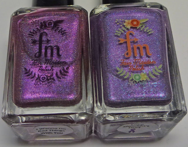 Fair Maiden Polish I Wanna Do Bad Things with You and Love Shouldn't Hurt comparison