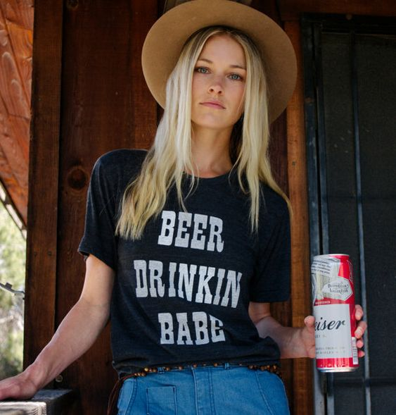 'BEER DRINKIN BABE' tee shirt. PYGear.com