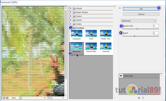 Cara cepat membuat efek patchwork dengan photoshop
