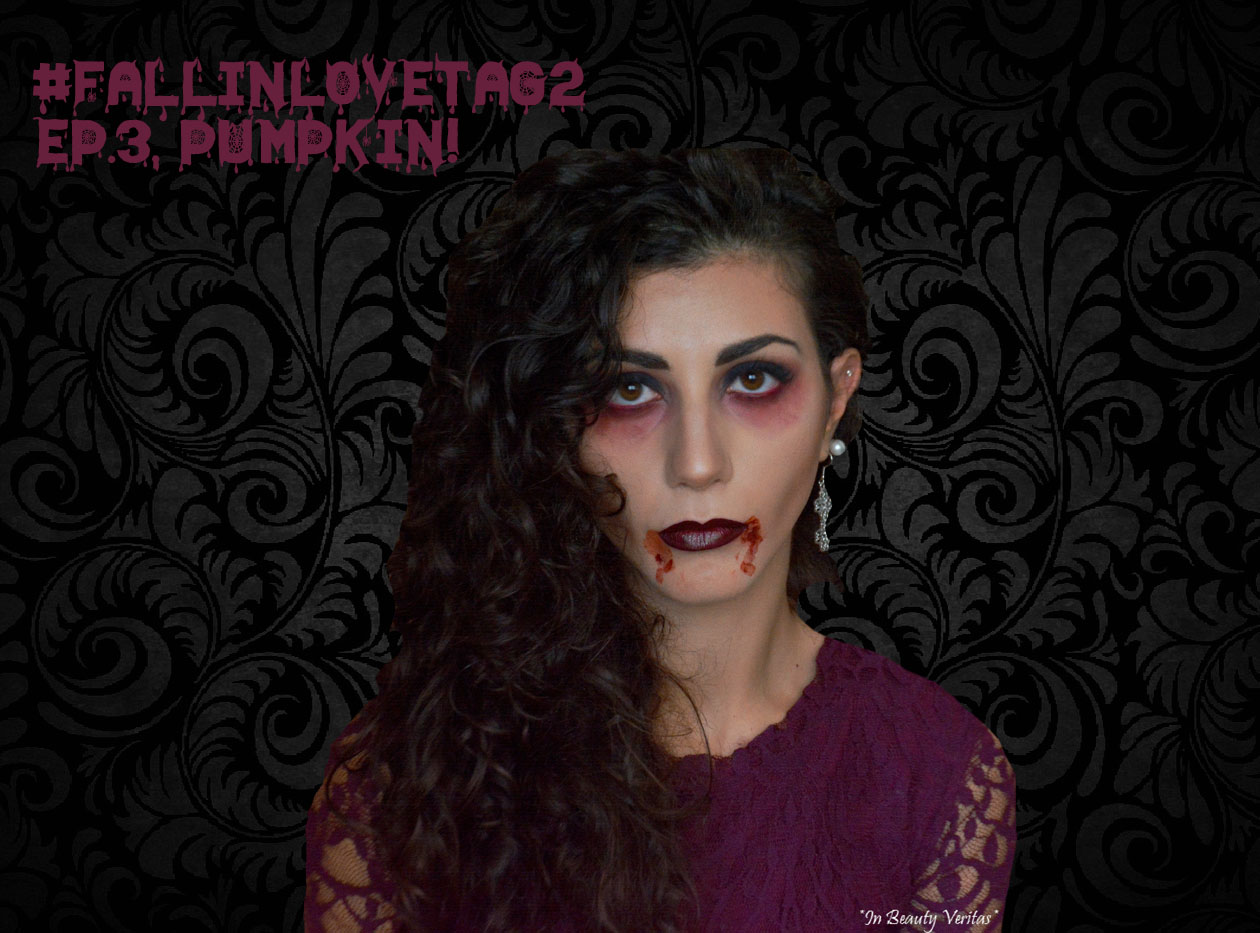 fall in love tag2, pumpkin, vampire makeup, halloween makeup look, trucco vampiro