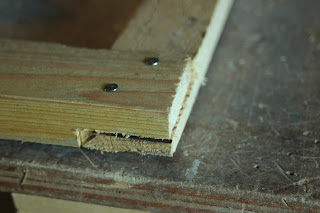 psllet wood frame lapped joint