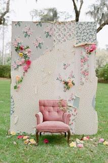 Panel y sillón para photocall