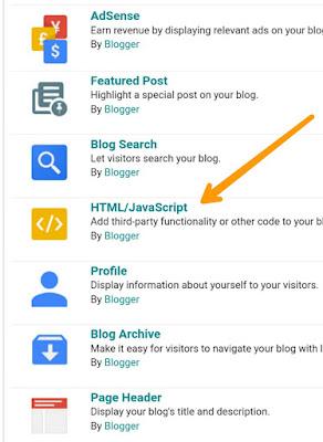 blogger layout widget pic