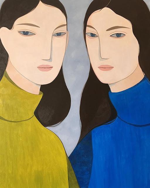 Kelly Beeman arte | dibujo en acuarela de mujeres | retrato
