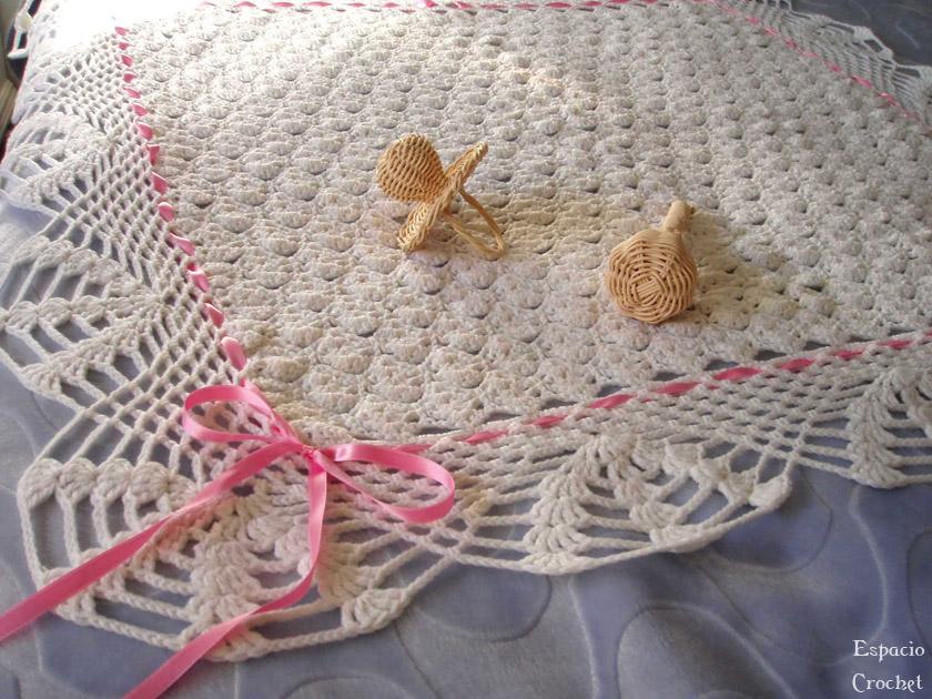 Manta de bebé   Espacio Crochet