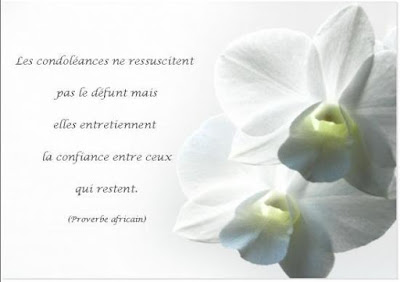 condoléances message