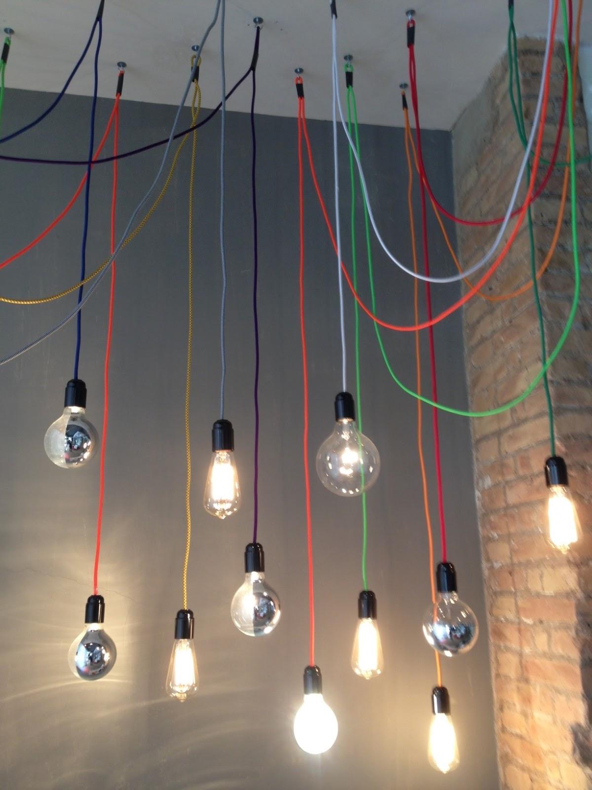Lamparas urban vintage Cables electricos de colores