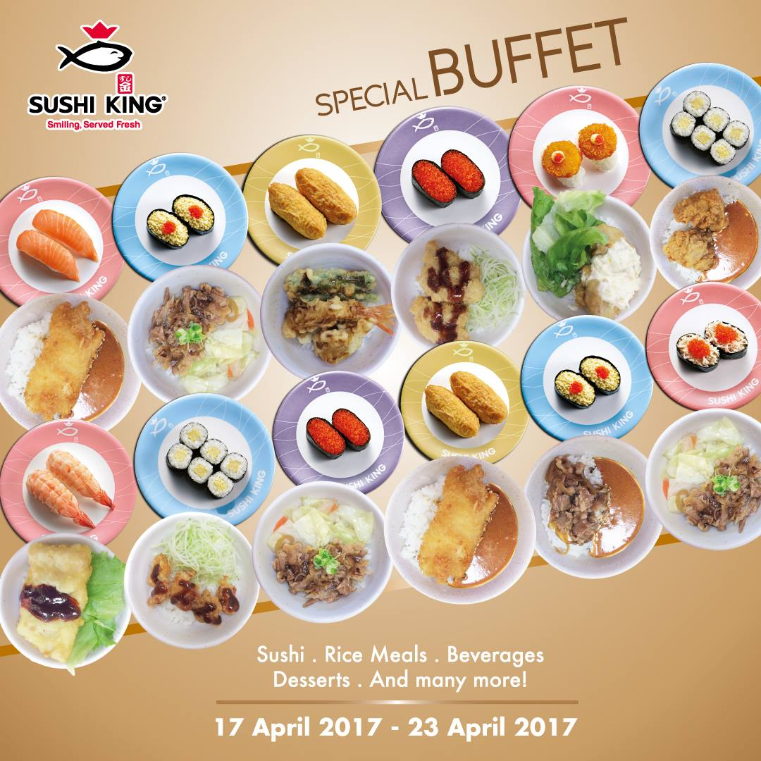 Sushi King Special Dinner Buffet Member Price RM3805 Nonmember