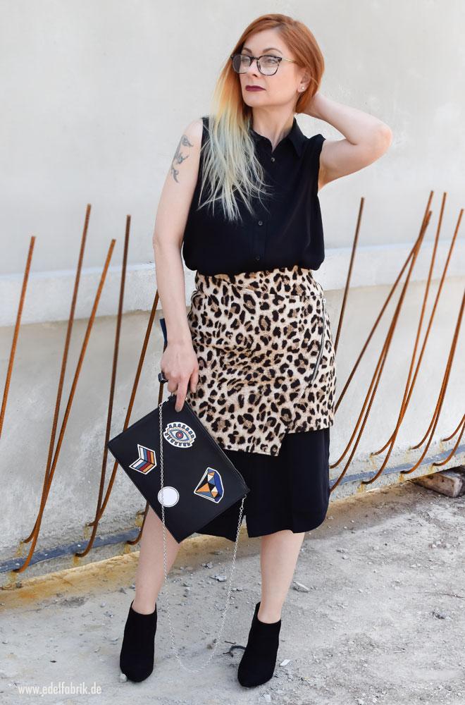 Rock mit Leoparden Print, Leolook, Minirock