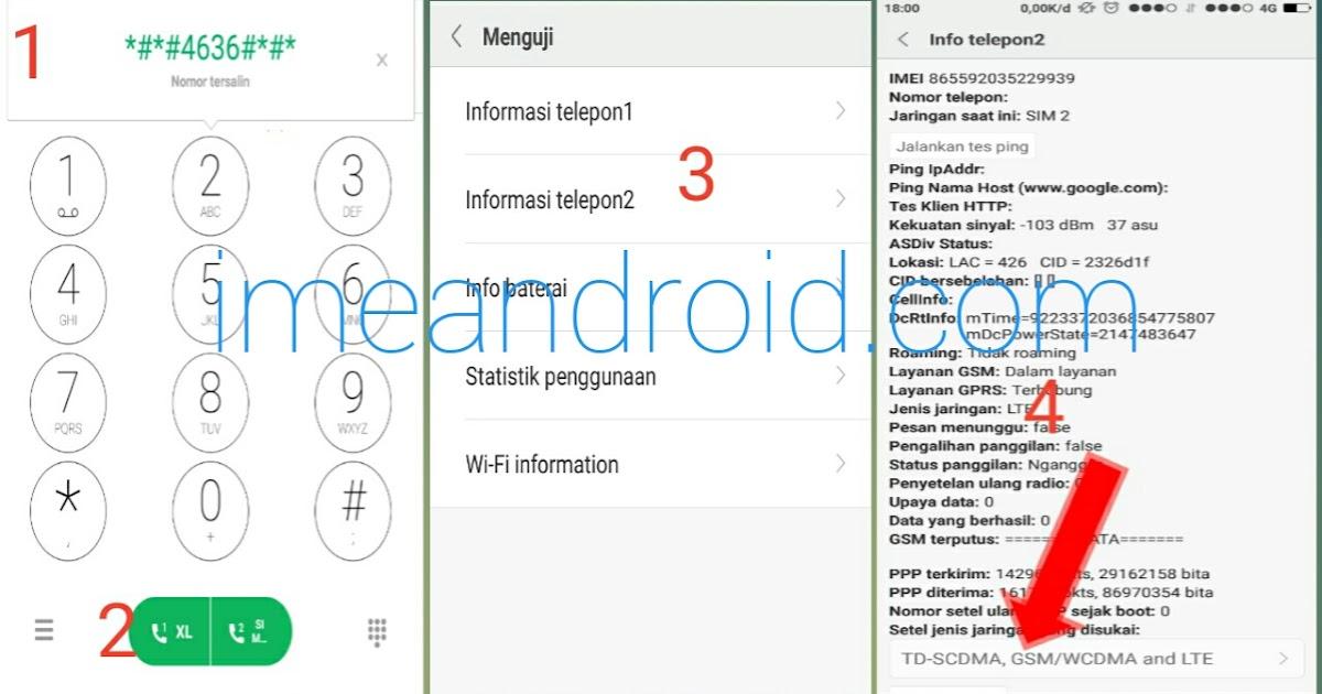 Cara Mengubah Jaringan 3g Ke 4g Menggunakan Kode Rahasia Ime Android
