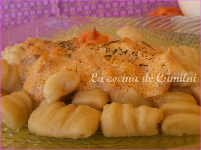 Ñoquis express con salsa de ahumados (La cocina de Camilni)