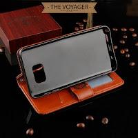 dompet sarung casing hp kulit import samsung galaxy note 5 leather case flip case cover wallet luxury original asli vintage motif unik keren lucu