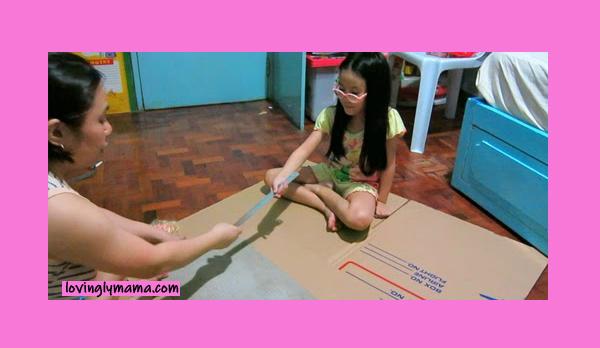 DIY Barbie Dream Doll House - Barbie doll - Barbie doll house - how to make a doll house - homeschooling - summer craft - homeschooling - Bacolod mommy blogger- doll furniture
