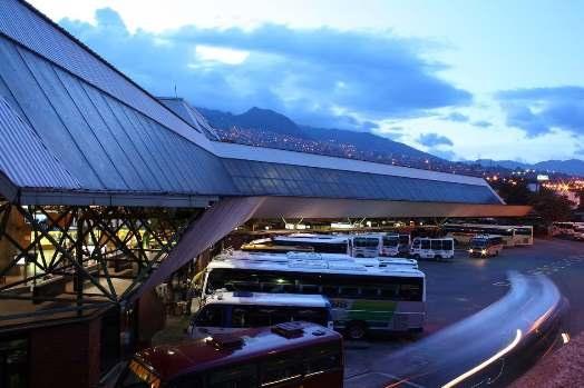Destino salidas de buses, tarifas y horarios de transporte Terminales Medellin Colombia