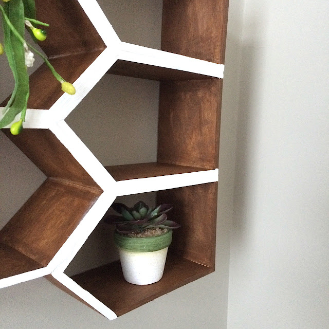 DIY Geometric Wall Shelf MinWax IDS17 Harlow & Thistle 2