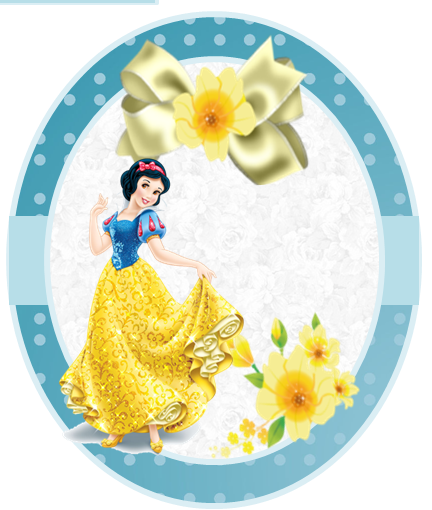 Toppers o Etiquetas de  Blancanieves para imprimir gratis.
