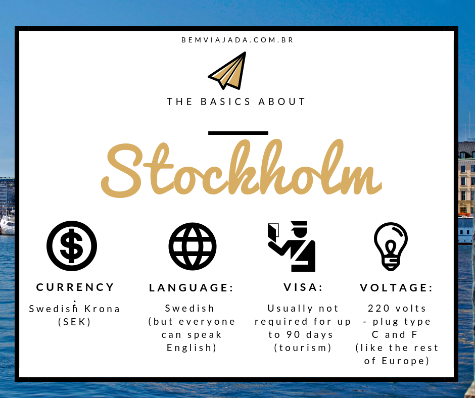 Currency Visa Language and Voltage Information Stockholm Sweden