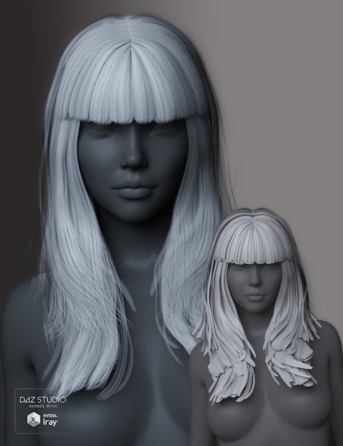 Nita Hair for Genesis 3 Female