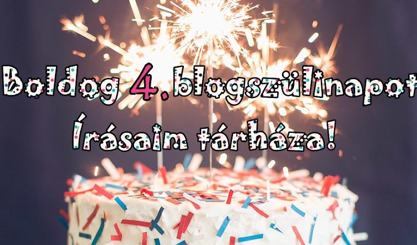 Boldog 4. blogszülinapot Írásaim Tárháza { + Nyereményjáték}