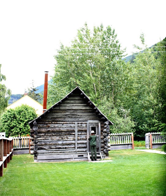 The Moore cabin is the oldest structure in Skagway, Alaska.