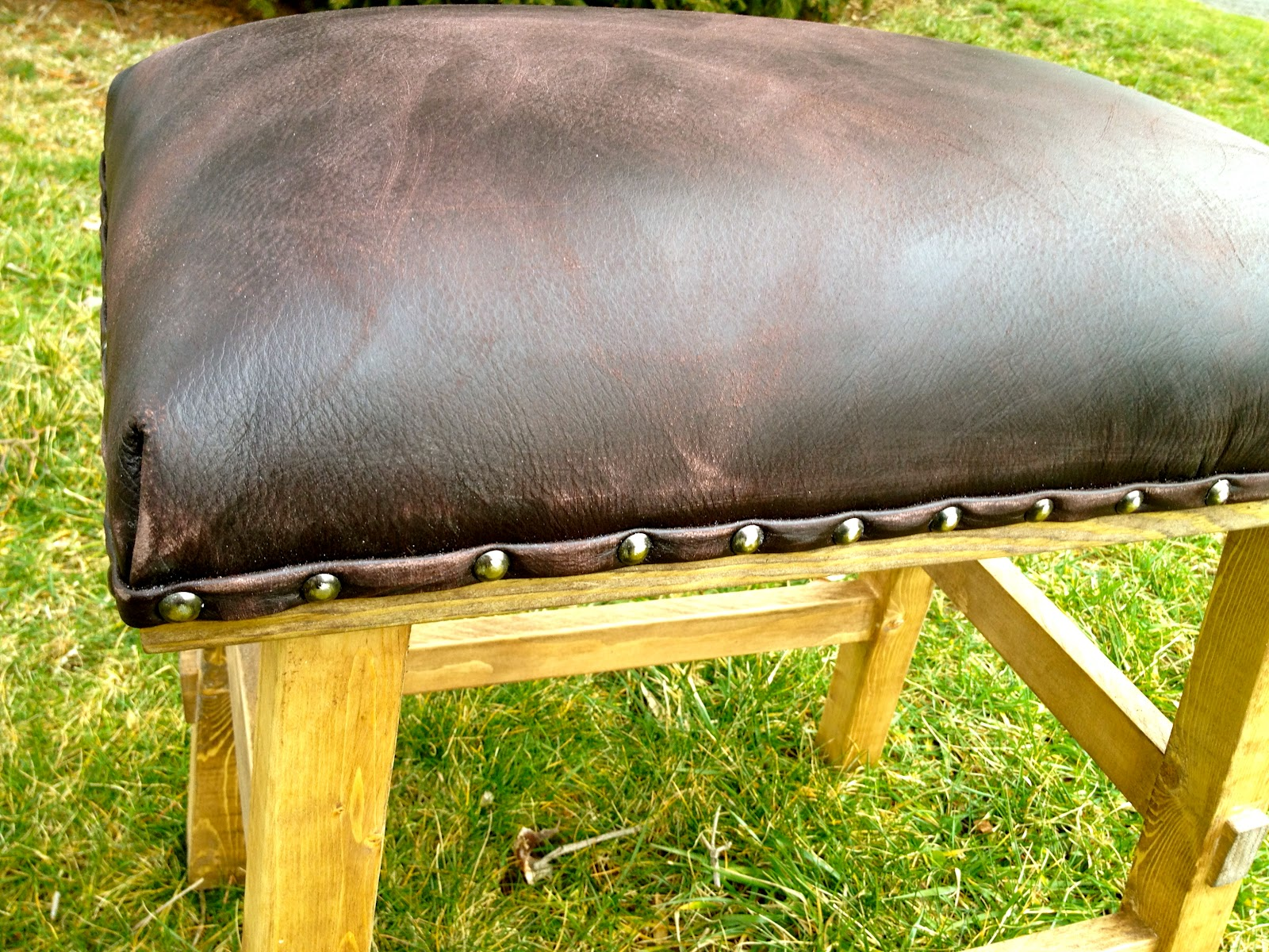 Diy Leather And Nailhead Stool Jaime Costiglio