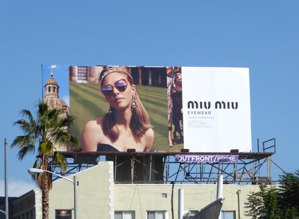 Miu Miu Eyewear FW16 billboard
