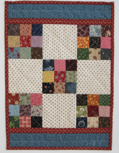 Nine-Patch Doll Quilt - Free Pattern