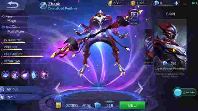 Cara dan Tips Mengalahakan Hero Zhask Mobile Legend