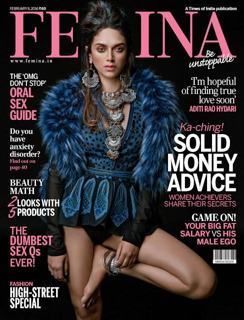 Aditi Rao Hydari in Femina Magazine Feb 2016