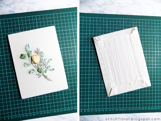 How to frame hand embroidery: tutorial
