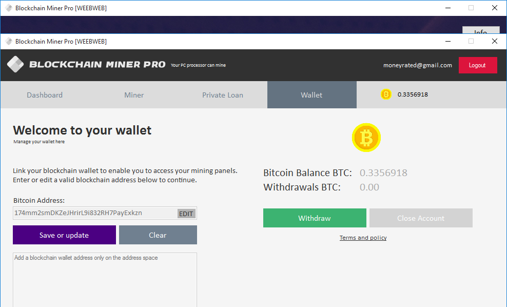 go to mining tab and select the setting you wish to use for mining the bitcoins see picture below of how to manage setting below