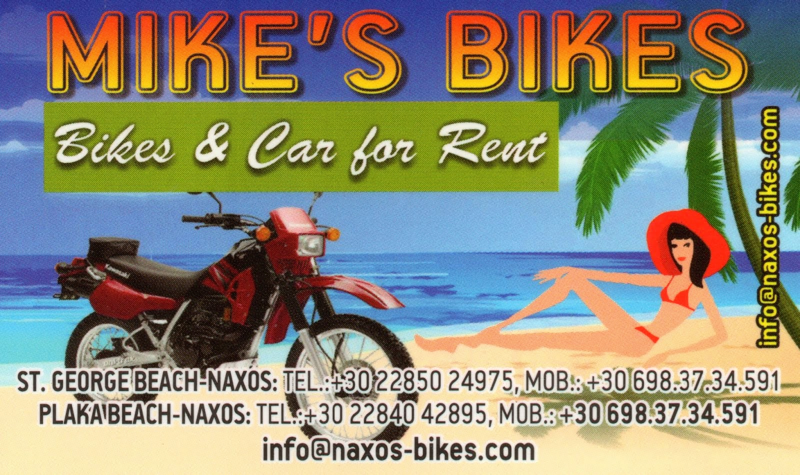MIKE'S BIKES FOR RENT