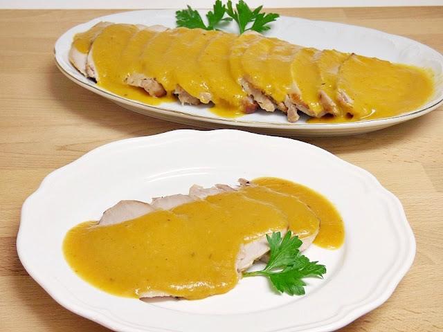 lomo asado con salsa