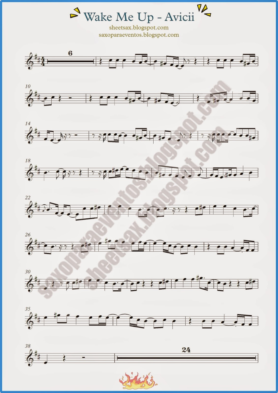 Wake me up by avicii sheet music and playalong for your wake me up by avicii sheet music and playalong for your instrument free sheet music for sax hexwebz Gallery