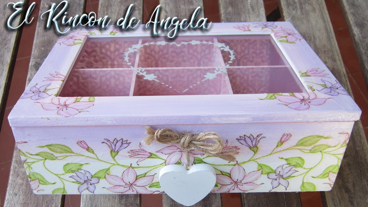 Caja decorada con decoupage y pintura en degradado diy for Pintura para decoupage