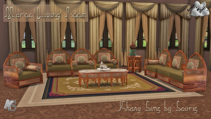 My Sims 4 Blog Morocco Living Room Set By Souris