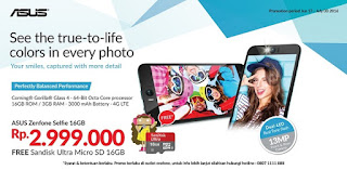 Asus Zenfone Selfie Promo bonus SanDisk Ultra microSD 16 GB