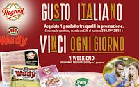 Logo Concorso ''Gusto Italiano'' :  con Negroni vinci 16 weekend soggiorno con degustazione