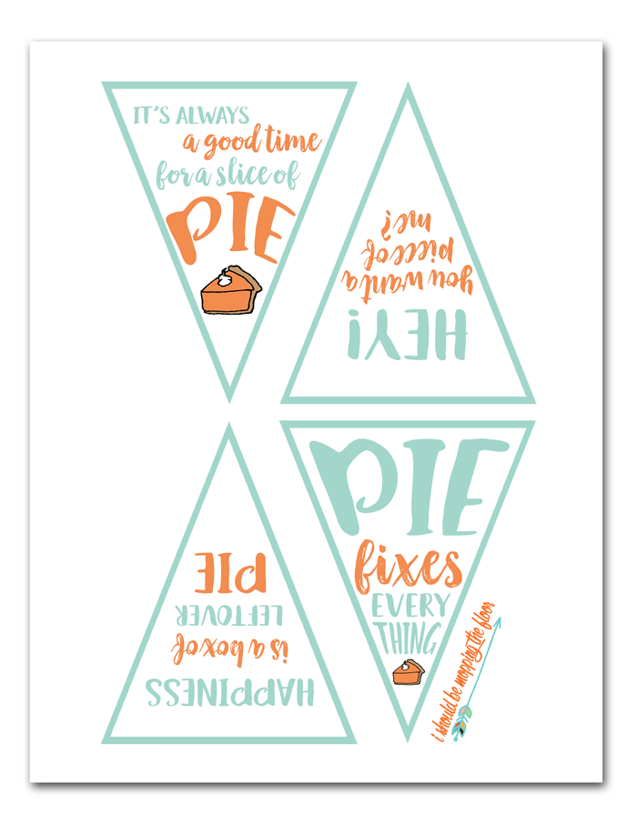 Free Printable Pie Box Toppers | Cute toppers for cardboard pie boxes. Don't have pie boxes? There are leftover tag printables, too!