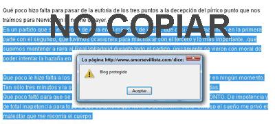 contra el copiado del blog