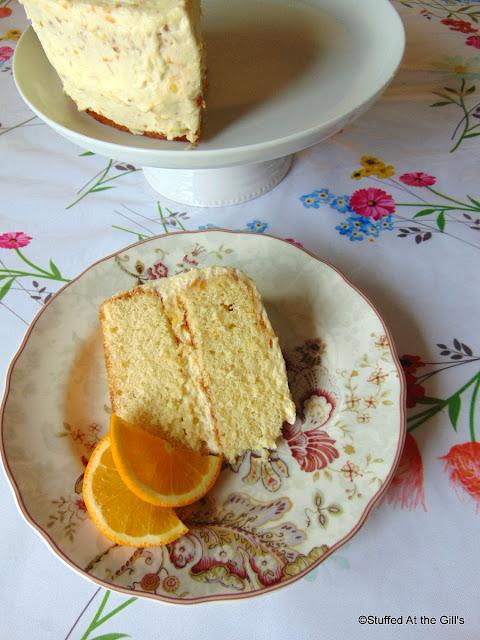 Orange Layer Cake with Whipped Orange Frosting