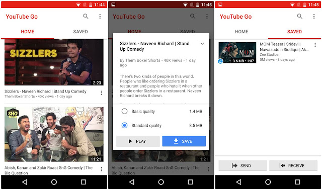 youtube-go-launched-india YouTube Move Now To be had in Beta, an 'Offline-First' App for India Apps News