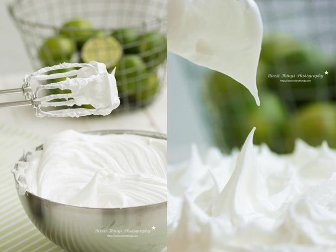 Baiser oder Meringue für Key Lime Pie herstellen